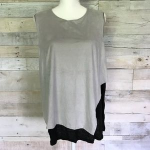 NEW Able Layered Tank Top Shirt Blouse 3X